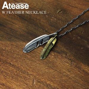 (アティース) Atease フェザーネックレス シルバー インディアンジュエリー メンズ|retom