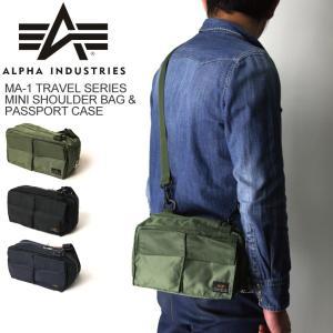 (アルファ) ALPHA アルファ インダストリーズ MA-1トラベル シリーズ ミニ ショルダー パスポートケース|retom