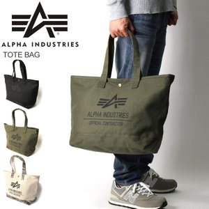 (アルファ) ALPHA アルファ インダストリーズ 帆布 トートバッグ ショルダーバッグ メンズ レディース|retom