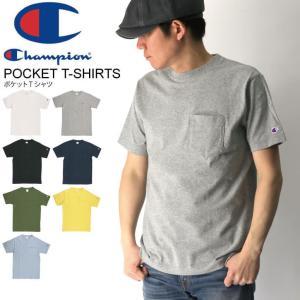(チャンピオン) Champion ポケット Tシャツ カットソー ヘビーウエイト メンズ レディー...