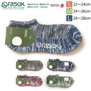 (ラソックス) rasox クールメッシュ・ロウ ソックス L字型 靴下 くつ下 接触冷感繊維 ソフィスタ 冷感モデル メンズ レディース 日本製 ベーシックシリーズ|retom