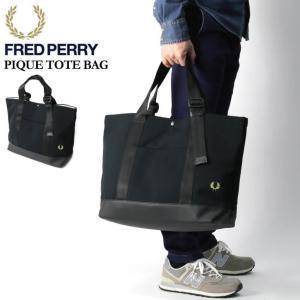 (フレッドペリー) FRED PERRY ピケ トートバッグ 鹿の子素材 メンズ レディース