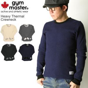 (ジムマスター) gym master ヘビーサーマル クルーネック ロングスリーブ Tシャツ ロンT|retom