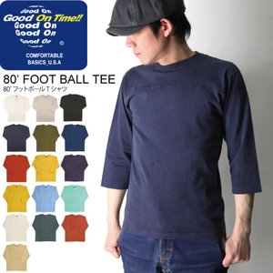(グッドオン) Good On 80'フットボール Tシャツ 7分袖 カットソー メンズ レディース|retom