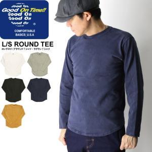 (グッドオン) Good On ロングスリーブ ラウンド Tシャツ ラグラン カットソー 無地 メンズ レディース|retom