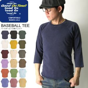 (グッドオン) Good On ベースボール 7分袖 Tシャツ ラグラン Tシャツ カットソー メンズ レディース|retom