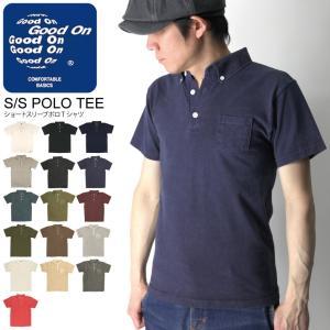 (グッドオン) Good On ヘビーウエイト ショートスリーブ ポロ Tシャツ ポロシャツ ボタンダウン メンズ レディース|retom