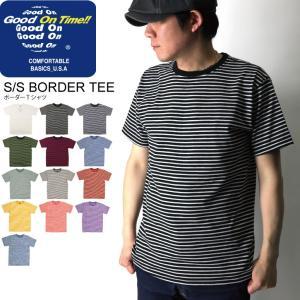 (グッドオン) Good On ボーダー Tシャツ カットソー ショートスリーブ メンズ レディース|retom