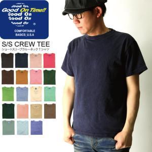 (グッドオン) Good On ショートスリーブ クルーネック カラー Tシャツ|retom