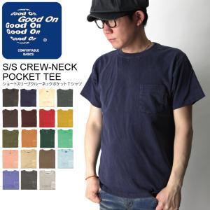 (グッドオン) Good On ショートスリーブ クルーネック カラー ポケット Tシャツ カットソー メンズ レディース|retom