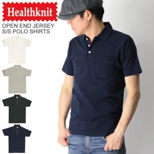 (ヘルスニット) Healthknit オープン エンド ジャージー ヘビーウエイト 半袖 ポロシャツ カットソー メンズ レディース|retom