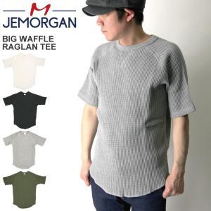 (ジェーイーモーガン) JEMORGAN ビッグワッフル ラグラン Tシャツ クルーネック カットソー サーマル素材|retom