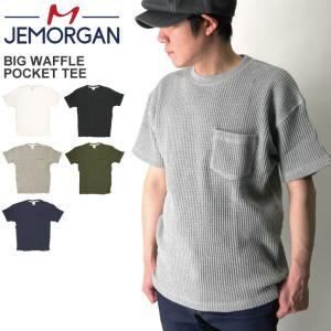 (ジェーイーモーガン) JEMORGAN ビッグワッフル ポケット Tシャツ クルーネック カットソー サーマル素材|retom