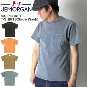 (ジェーイーモーガン) JEMORGAN ショートスリーブ 後染め ポケット Tシャツ ウオッシュ加工 カットソー ポケT 半袖|retom