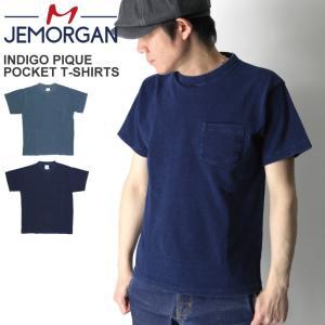 (ジェーイーモーガン) JEMORGAN インディゴ 鹿の子 ポケット Tシャツ ショートスリーブ カットソー ポケT 半袖|retom