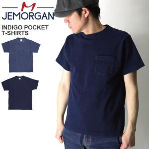 (ジェーイーモーガン) JEMORGAN ヘビーウエイト インディゴ ポケット Tシャツ カットソー ポケT|retom