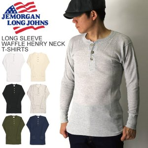 30%OFF!! (ジェーイーモーガン) JEMORGAN ロングスリーブ ワッフル ヘンリーネック Tシャツ ロンT メンズ レディース|retom