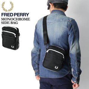(フレッドペリー) FRED PERRY モノクローム サイド バッグ ミニショルダーバッグ ショルダーバッグ ポーチ メンズ レディース|retom