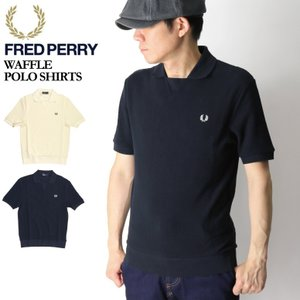 50%OFF!! (フレッドペリー) FRED PERRY ワッフル ポロシャツ カットソー メンズ レディース|retom
