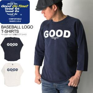 (グッドオン) Good On ベースボール 7分袖 ロゴ Tシャツ ラグラン Tシャツ カットソー メンズ レディース|retom