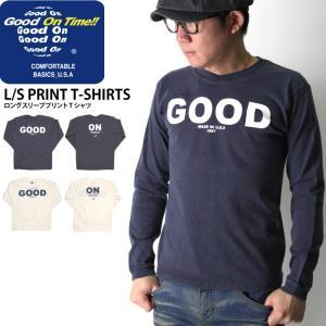 (グッドオン) Good On ロングスリーブ プリント Tシャツ|retom