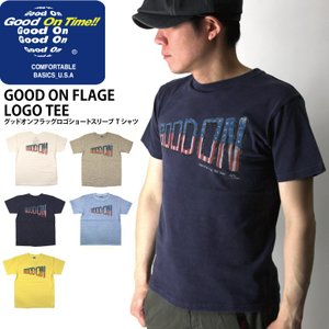 (グッドオン) Good On グッドオンフラッグ ロゴ Tシャツ ショートスリーブ カットソー 後染め|retom