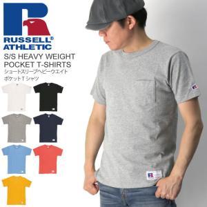 (ラッセル アスレティック) RUSSELL ATHLETIC ショートスリーブ ヘビーウエイト ポケット Tシャツ カットソー メンズ レディース|retom