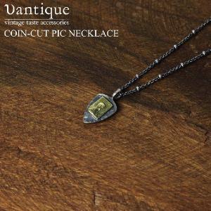 (ヴァンティーク) Vantique コイン カット ピック シルバーネックレス メンズ レディース|retom