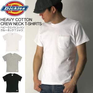 (ディッキーズ) Dickies ヘビーウエイト コットン クルーネック Tシャツ ポケットTシャツ カットソー メンズ レディース retom