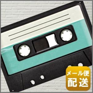 レトロ デザイン カセット テープ ブリキ 看板 アンティー...