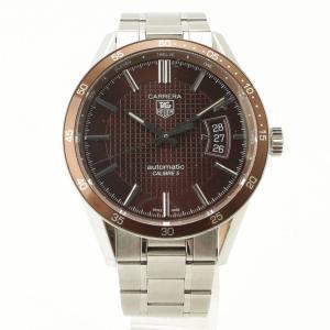 【タグ ホイヤー】Tag Heuer メンズ カレラ オートマチック 腕時計 WV211N ブラウン 【中古】【正規品保証】100071|retrojp