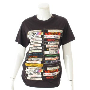 【ルイヴィトン】Louis Vuitton 20SS VHSビデオ プリント Tシャツ モノグラム ロゴ ブラック S 未使用【中古】【正規品保証】101388 retrojp