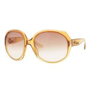 【クリスチャン ディオール】Christian Dior サングラス GLOSSY 1 VLZ02 クリアブラウン 【中古】【正規品保証】106921|retrojp