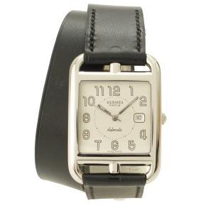 【エルメス】Hermes ケープコッド ドゥブルトゥール 腕時計 マルジェラ期 CC1.710 ブラック □D 【中古】【正規品保証】107393|retrojp