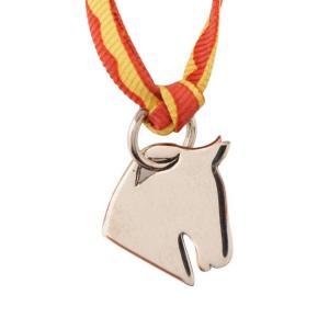【エルメス】Hermes トゥールビヨン シュバル チャーム ネックレス チョーカー シルバー 【中古】【正規品保証】110508|retrojp