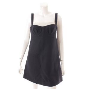 【クリスチャン ディオール】Christian Dior シルク混 ジャンパースカート ワンピース ブラック 38 【中古】【正規品保証】114271|retrojp