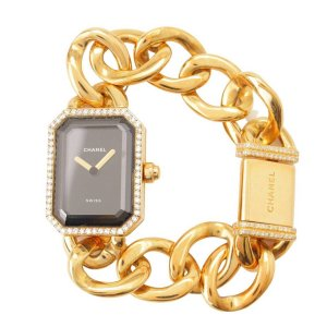 【シャネル】Chanel プルミエール ダイヤモンド 腕時計 18K 750 H0113 ゴールド 【中古】【正規品保証】115286|retrojp