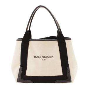 【バレンシアガ】Balenciaga キャンバス ネイビーカバス S トートバック 339933 オフホワイト ブラック  【中古】【正規品保証】115449|retrojp