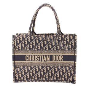 【クリスチャン ディオール】Christian Dior キャンバス オブリーク ブックトートバッグ M1286ZRIW 928 トロッター ネイビー 【中古】【正規品保証】116007|retrojp
