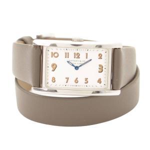 【ティファニー】Tiffany イーストウエストミニ 腕時計 36668636  グレー スペアベルト付 【中古】【正規品保証】117235|retrojp