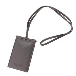 【ボッテガ ヴェネタ】Bottega Veneta ネックストラップ レザー カードケース NAPPATO 619045 ブラック 【中古】【正規品保証】117414|retrojp