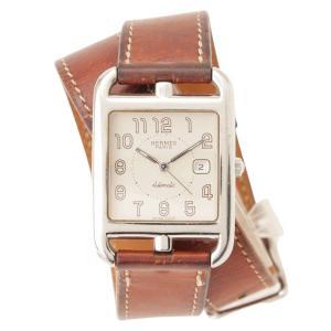 【エルメス】Hermes ケープコッド ドゥブルトゥール 腕時計 マルジェラ期 CC1.710 ブラウン 【中古】【正規品保証】117455|retrojp