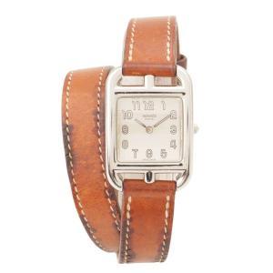 【エルメス】Hermes ケープコッド ドゥブルトゥール 腕時計 CC1.210 ブラウン □J 【中古】【正規品保証】118288|retrojp