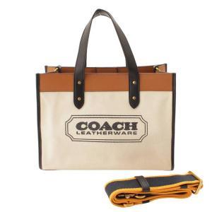 【コーチ】Coach フィールドトート30 ヴィズ キャンバス トートバッグ 89488 ホワイト 【中古】【正規品保証】120358|retrojp