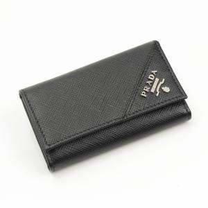 【プラダ】Prada サフィアーノ 6連 キーケース 2PG222 ブラック  未使用【中古】【正規品保証】17763|retrojp