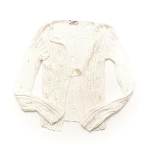 【マックスアンドコー】Max & CO ラメ ニット カーディガン ホワイト S 【中古】【正規品保証】32025|retrojp