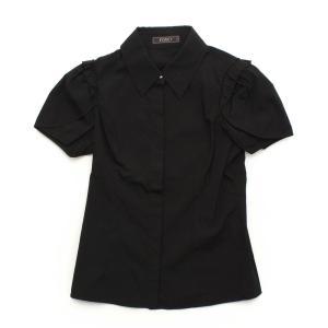 【フォクシーニューヨーク】Foxey New York フレンチスリーブ ブラウス シャツ 25599 ブラック 40 【中古】【正規品保証】32452|retrojp
