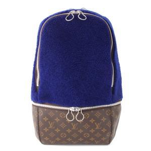 【ルイヴィトン】Louis Vuitton マークニューソン モノグラム フリースパック バックパック リュック M40276 ブルー  【中古】【正規品保証】53467 retrojp
