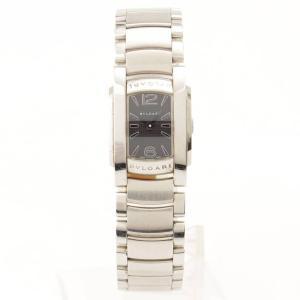 【ブルガリ】BVLGARI アショーマ レディース 腕時計 AA26S ブラック シルバー 電池交換済 【中古】【正規品保証】71209|retrojp