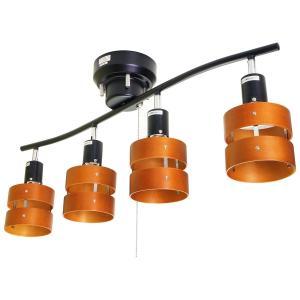4灯シーリングスポットライト メタルフレーム 2環ウッドシェード(単体・電球なし)|reudo
